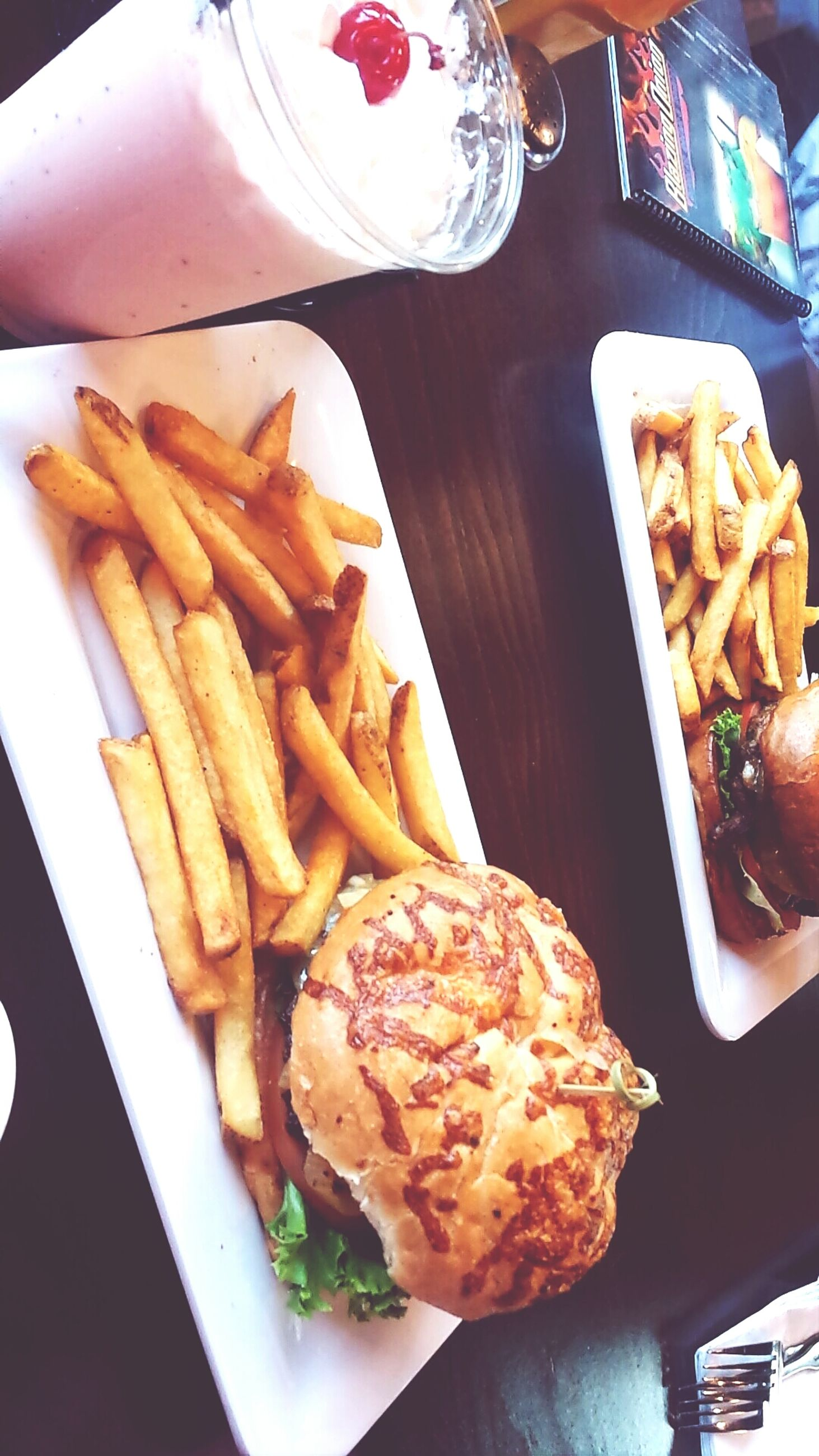 food, food and drink, indoors, freshness, ready-to-eat, plate, still life, table, meal, serving size, meat, indulgence, french fries, unhealthy eating, close-up, high angle view, restaurant, fork, temptation