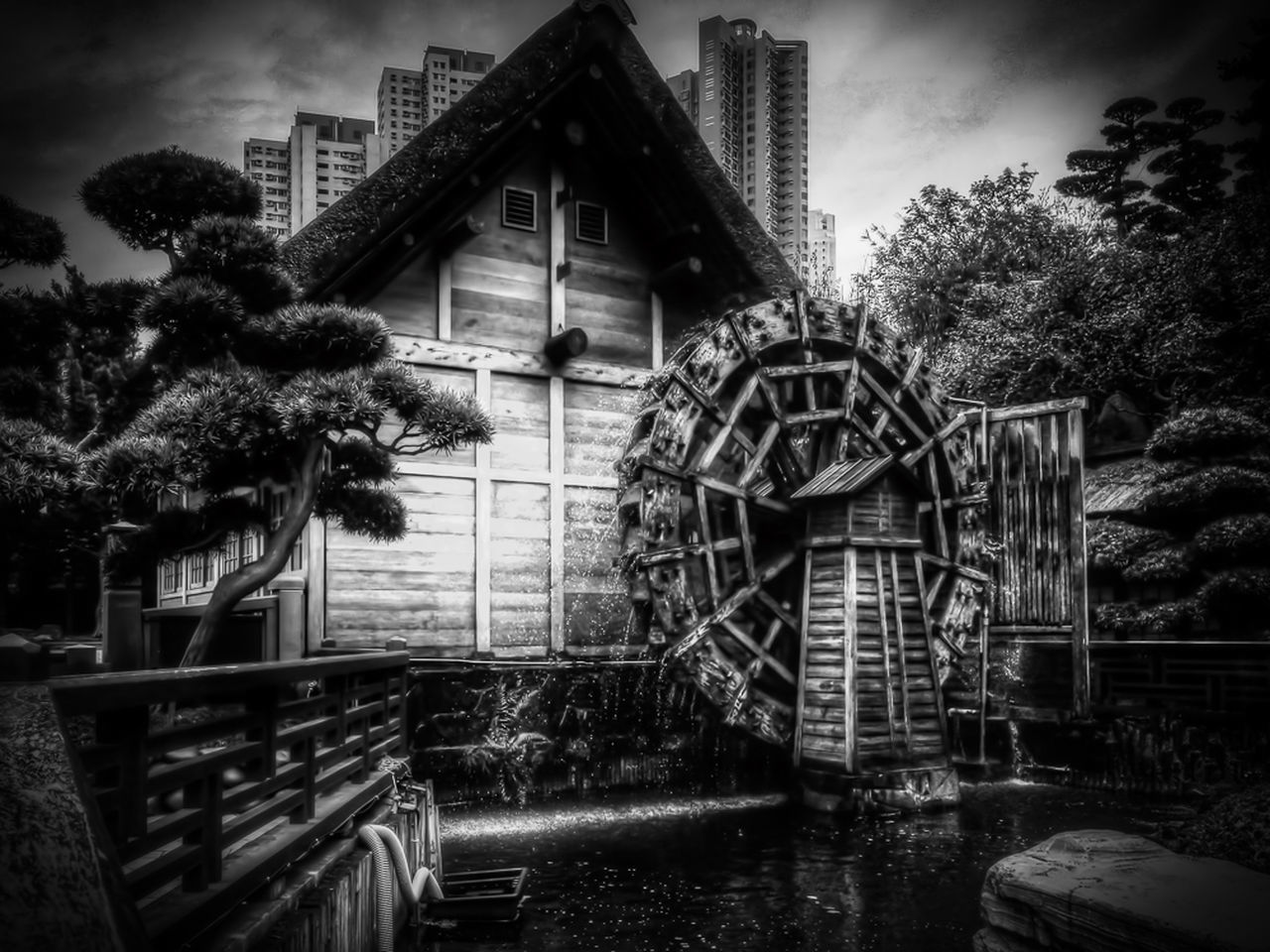 Iphonephotography Hdrphotography Black And White Photography HDR Tonemapping Blackandwhite Contrast Watermill