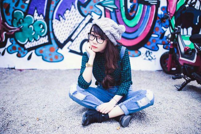 My Unique Style Portrait Girl Cutegirl Beautiful Girl Urban Graffiti Styles Outfit Fashion