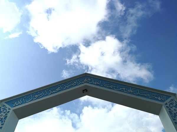 Architecture Travel Destinations Built Structure Low Angle View Sky Cloud - Sky Outdoors Day No People Floating Mosque Pangkor Island Masjid Seribu Selawat Architecture