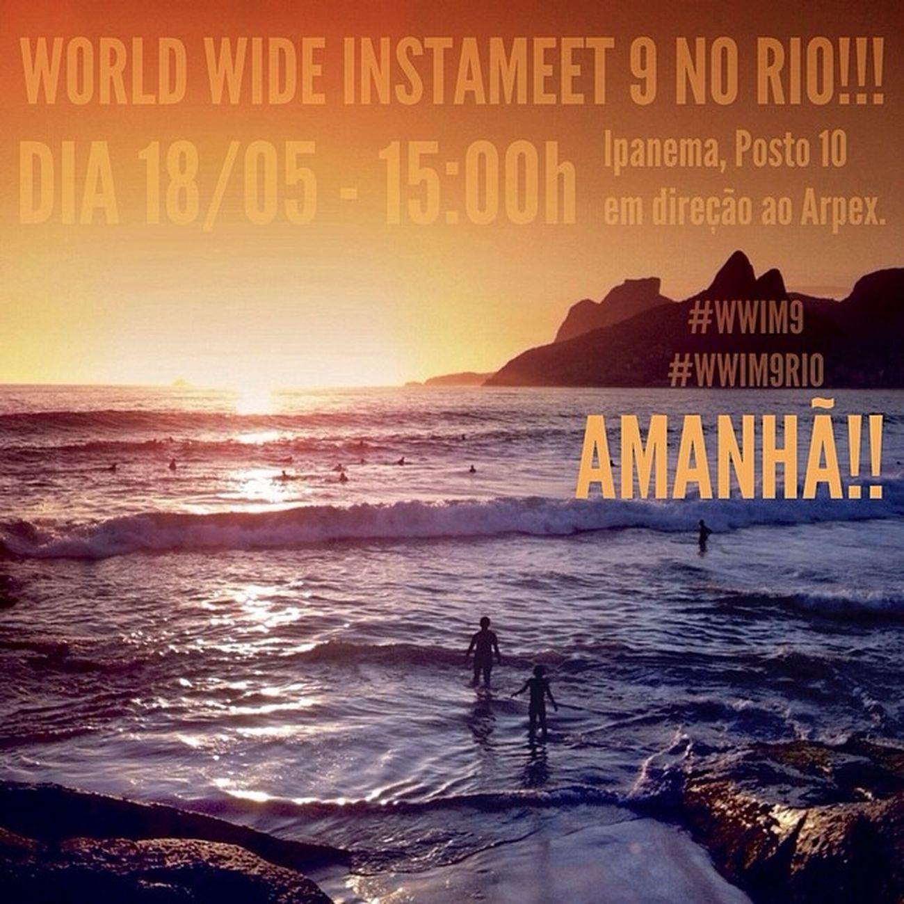 . 🌴☀️🌴🙀🌴🌟🌴😽🌴💛🌴 É AMANHÃ, PREPARADOS? 🌴☀️🌴🙀🌴🌟🌴😽🌴💛🌴 WORLDWIDEINSTAMEET-RIO: 🌴☀️🌴🙀🌴🌟🌴😽🌴💛🌴 ______________________________ 🎉🌍☀️👉 O mundo inteiro irá se conectar através de imagens esse fim de semana para o maior evento do @instagram: O Worldwideinstameet ! . 🌴😽🎉✨👉No Rio o encontro do @igersrio será Domingo, amanhã, em Ipanema no posto Dez, as 15:00h e de lá caminharemos rumo ao por do sol mais famoso do Rio: O do Arpoador. . 🙀🙀🙀👇👇E ATENÇÃO, SURPRESAS:👇👇🙀🙀🙀 . 🌼🌼👉 Ja que a parceria @igersrio e @oboticario vai de vento em popa, eles decidiram que uma das principais imagens da campanha será um grande mosaico montado com as fotos tiradas nesse dia. Além de um DESAFIO RELAMPÂGAO QUE IRÁ ESCOLHER A PRINCIPAL IMAGEM DA CAMPANHA. Sua foto pode participar de uma campanha incrível, uma verdadeira revelação de amor ao Rio. ______________________________ ✨Worldwideinstameet ✨WorldWideInstaMeetRio ✨Wwim9 ✨WWIM9RIO ✨RioQueVibra ✨OBoticario_Rio ✨IgersRio_OBoticario ✨Rioeuteamo ✨Igersrio