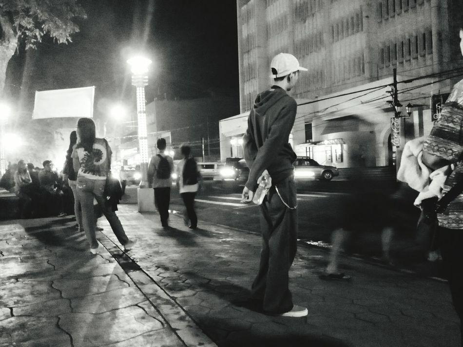 Night People Outdoors Street Stil Blackandwhite City