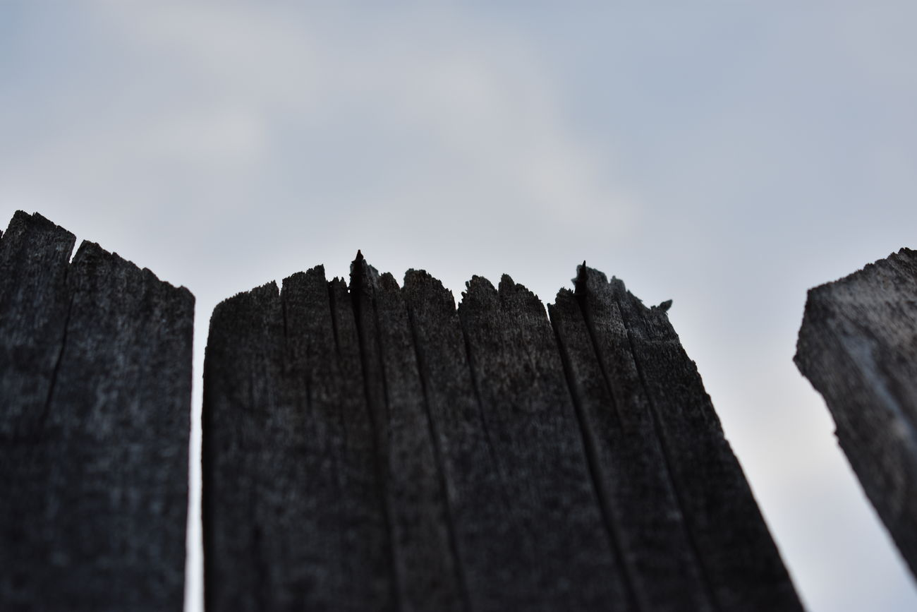 fence against the clouds Contrast Day Fencepost Fences High Contrast Negative Space No People Scenics Sky