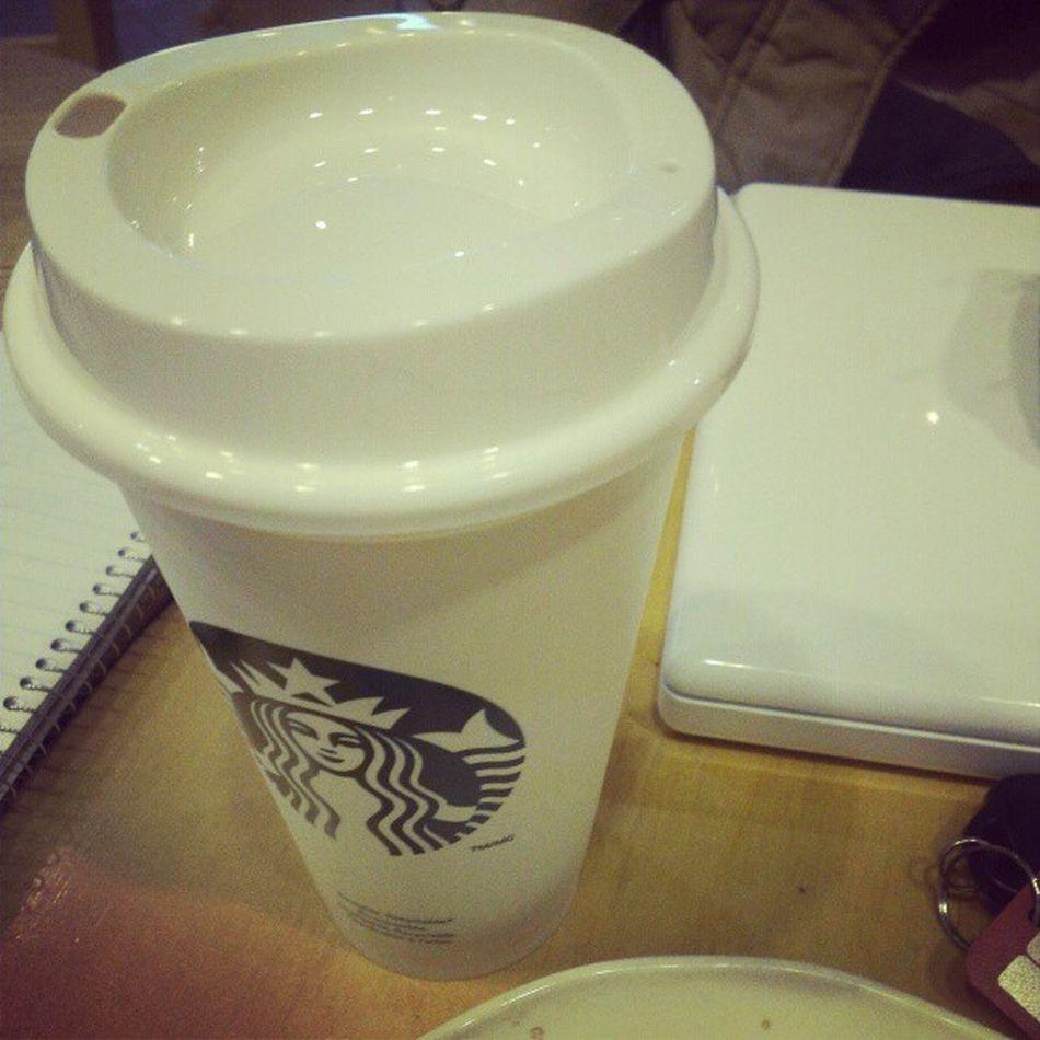 New study buddy! Starbucks Re -usablePlastic Goenvironment