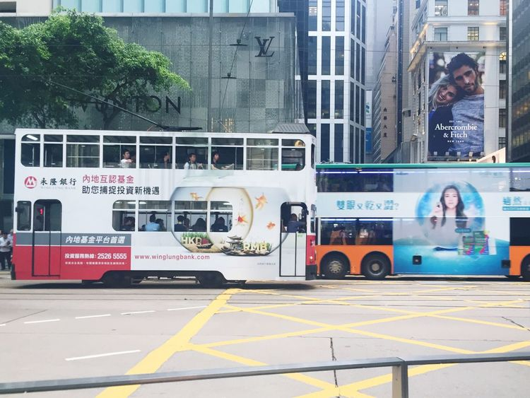Tram HongKongtram Hongkongisland Hong Kong 🇭🇰🇭🇰