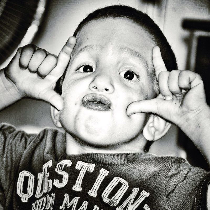 ee_daily EyeEm blackandwhite portrait Taking Photos enjoying life Children Hello world get close black and white portrait Genginsapgan gang_family by Cristian