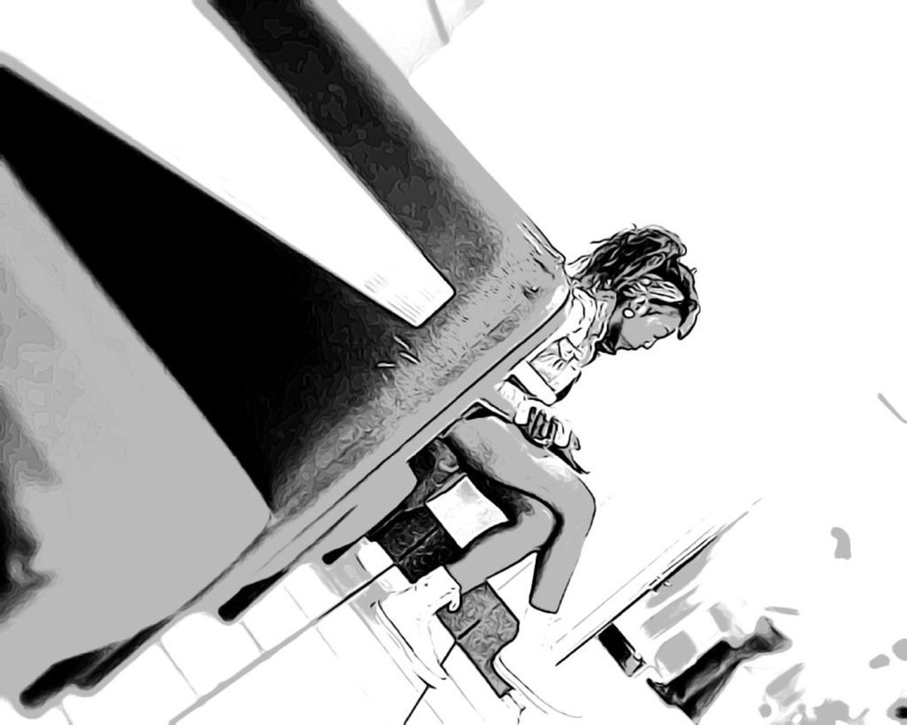 Girl Hanging Out Black And White Eye4photography