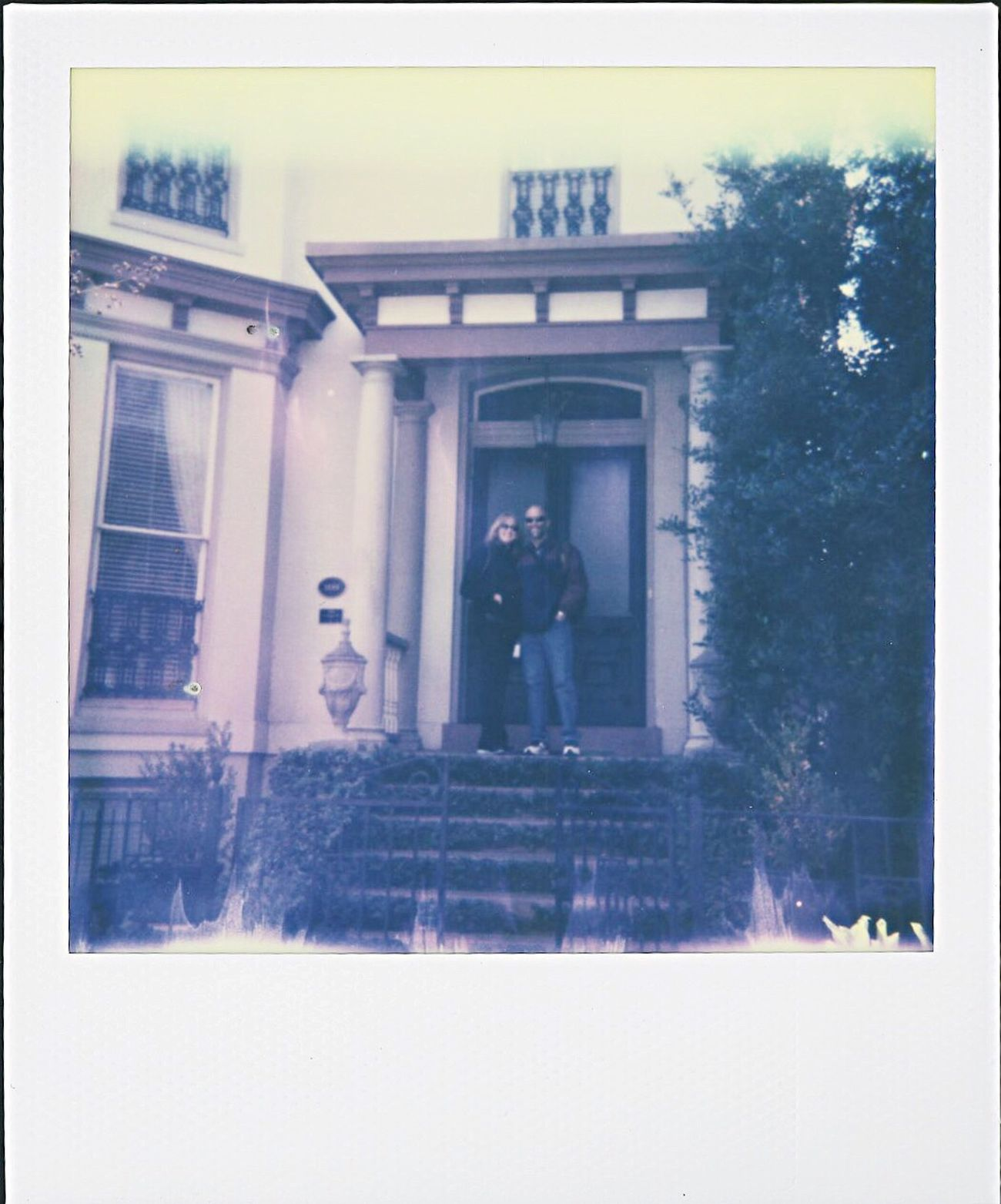 spring break house, mom and dad Savannah Georgia Forsyth Park Polaroid Polaroid 600 Polaroid Photography Polaroid Photographer