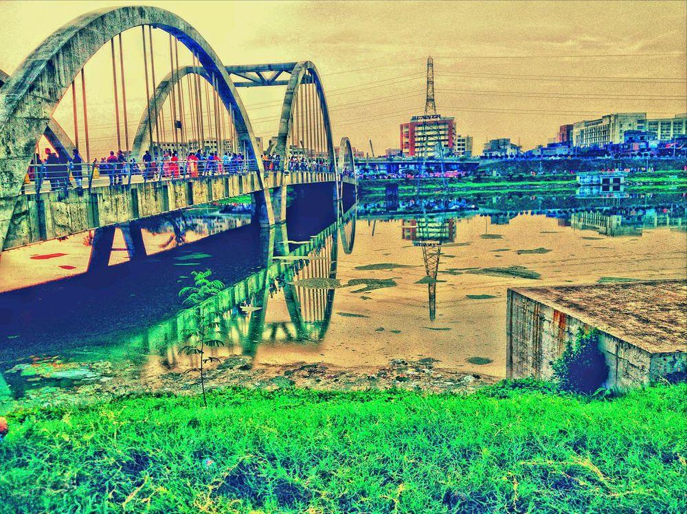 Bridge Bridge View Lakeside Lake View Pepoles Holiday Sunny Afternoon Reflection Relaxing Golden Lake Bridge