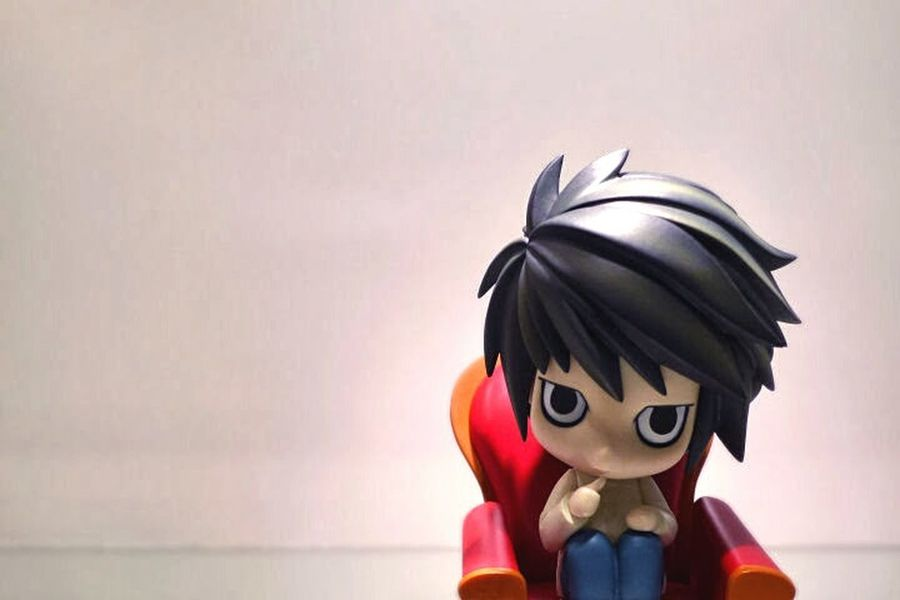 L, from the Deathnote series. Nendoroid Anime Death Note Sofa Collection Figurine  White Check This Out Still Life