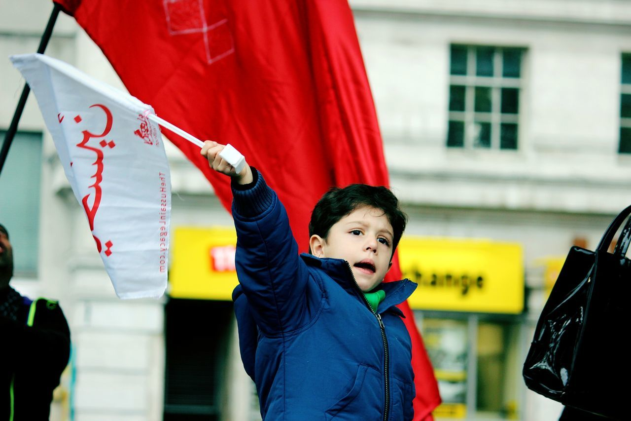 Freedom Hussain Child Karbala Aushra London Marblearch Red