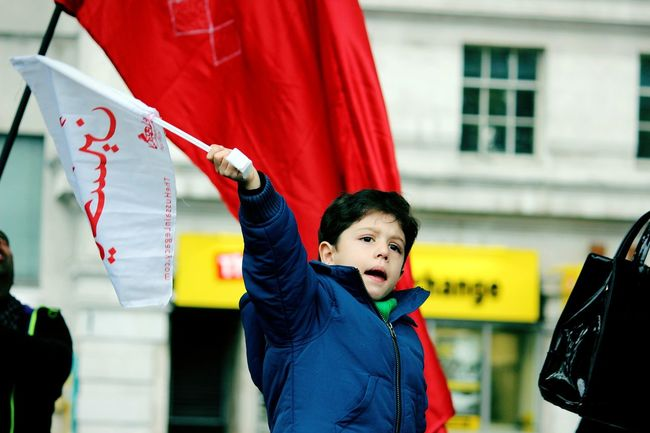 Freedom Hussain Child Karbala Aushra London Marblearch Red