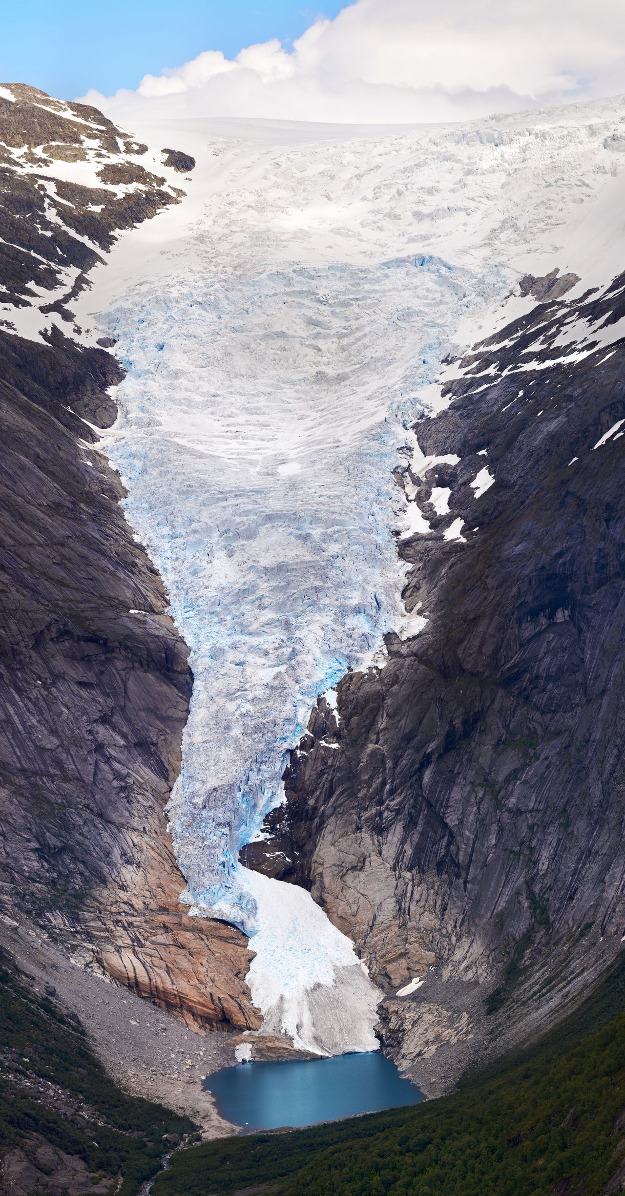 Beautiful stock photos of nature,  Beauty In Nature,  Briksdalsbreen Glacier,  Cliff,  Cloud - Sky