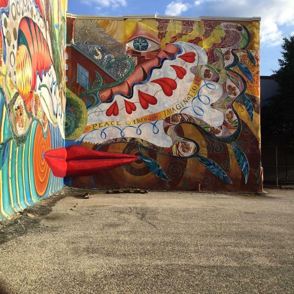 Peace Through Imagination EyeEm Best Shots Mural ATouristInMyOwnCity TheSidewalksOfTheCity ScenesFromTheStreet