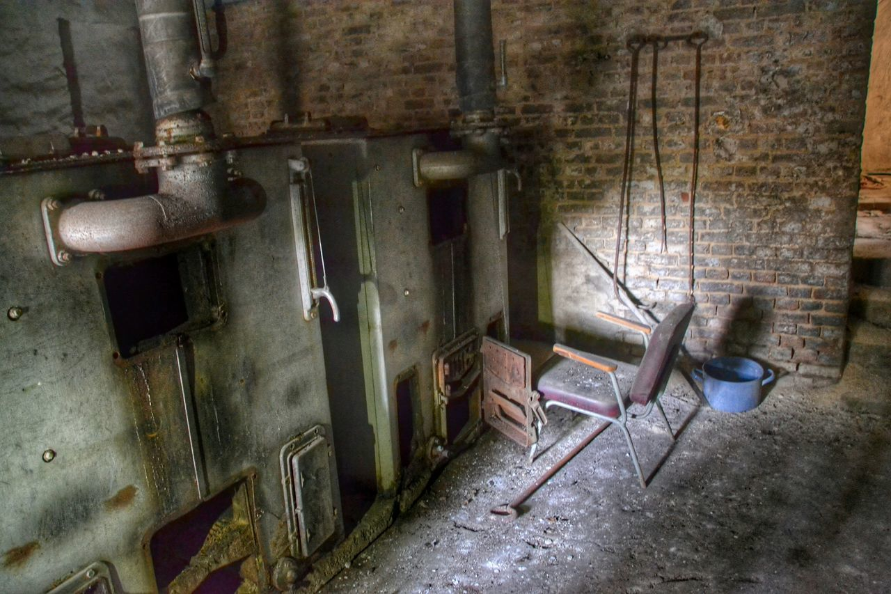 Old Machines In Abandonment Factory