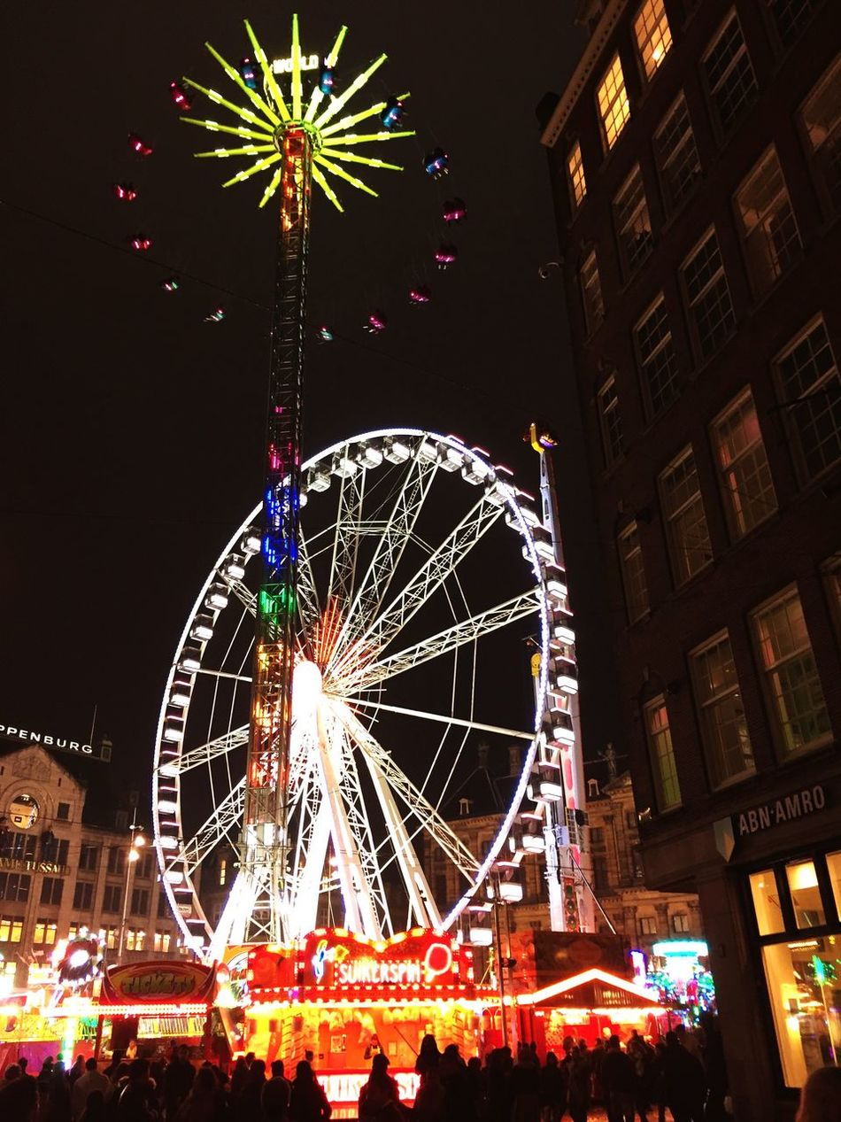 Funfair Amsterdam Lights IPhoneography Nightphotography Night Lights Eye4photography  EyeEm Nightlights Ferry Wheel Ferry Ferry Views Night Photography Night Fair Fairground Fairy Karussell