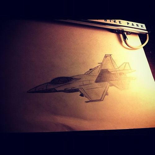 I draw when I'm bored. Generic fighter jet, with lighting placed at the back for a some-what realistic after-burner effect! Drawing Jet Fighterjer Bright Sketch Bored Pencilsketch Notanartist 30mins POTD Photooftheday