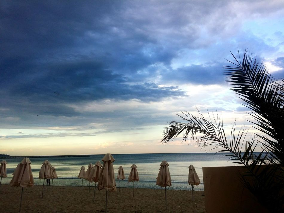 Sea Water Horizon Over Water Beach Tranquil Scene Tranquility Vacations Sky Cloud Tourism Beauty In Nature Travel Destinations Shore Non-urban Scene Cloud - Sky Excotic Blacksea Loneliness Seaside Lifestyles Bułgaria Nature Vacation Travel