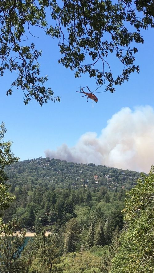 Pivotal Ideas Firefighter Helicopter Lake Arrowhead
