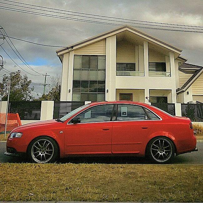 Audi Bavarian A4 Gdm sline quattro red manual 4door boost car COTD POTD instacar enkei APR stage2plus tuned