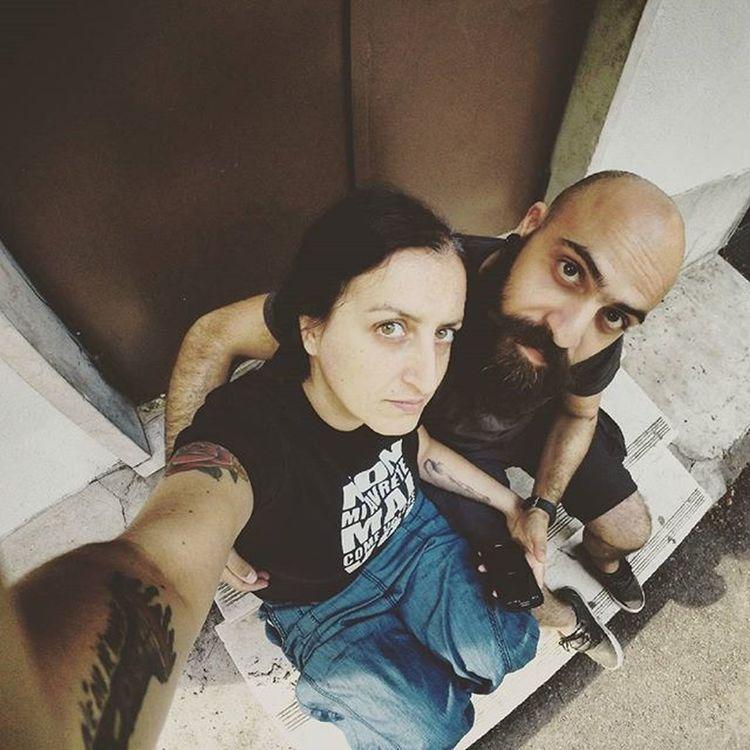 Tattoo Woman Selfie Gopro Couple Love Beautiful Me Us Lifestyle Underground Milan Boss Tattooedgirls Tattooed Beardyland  Beard Bearded Beardculture Beardgang Beardsnbeauties Beardstyle Beard