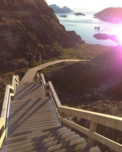 Midnight Sun Stairs Wonderfuld Greenland