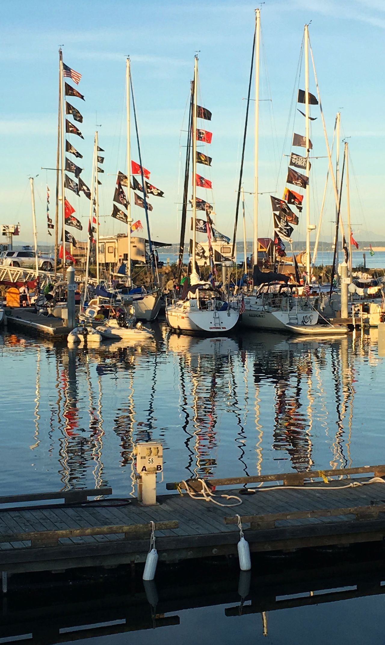 Beautiful stock photos of piraten, reflection, water, mast, nautical vessel