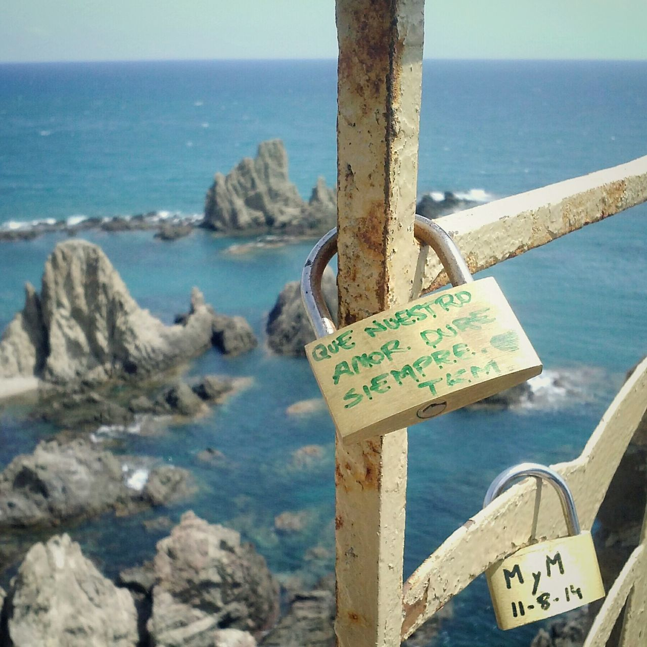 Sea Water Padlock Close-up Love Lock Day Outdoors Lock No People Nature Castle My Year My View Long Goodbye