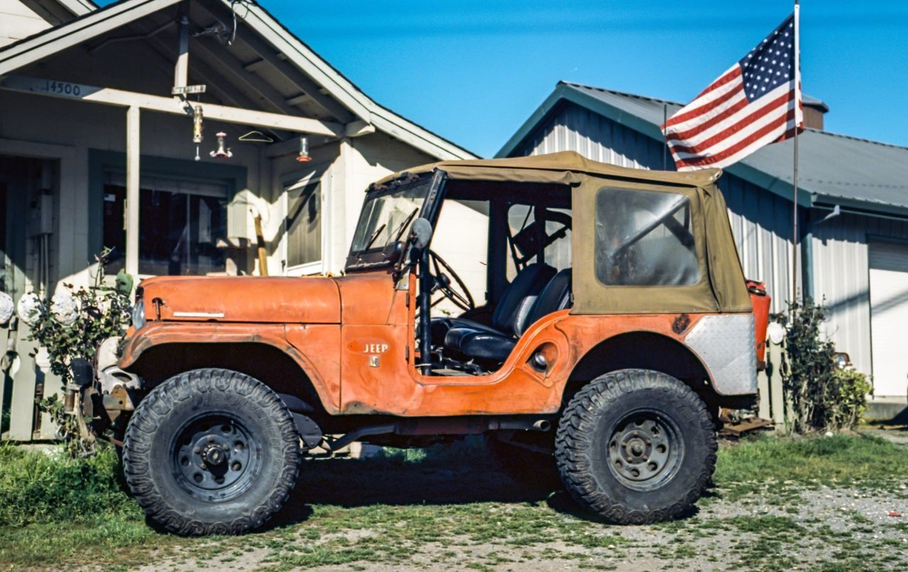 Orange 4X4 Outside Residential House