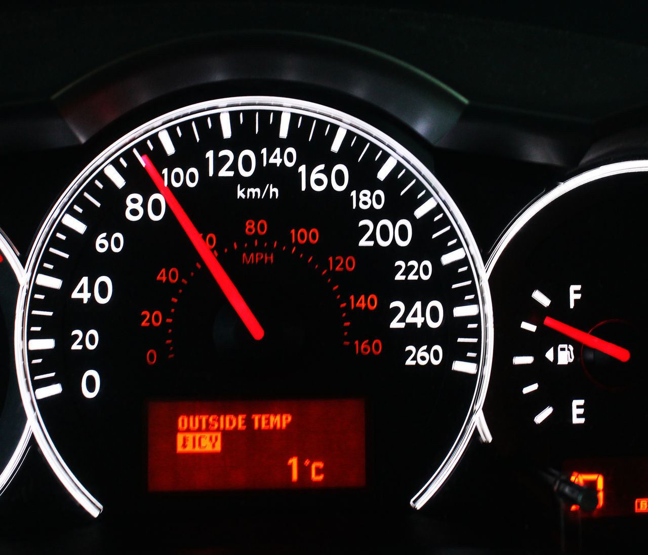 Modern car instrument dashboard panel Car Car Interior Close-up Control Panel Dashboard Day Driving Engine Gauge Illuminated Indoors  Kilometers Per Hour Land Vehicle Legal Speed Mode Of Transport No People Number Speed Limit Sign Speedometer Transportation Vehicle Interior