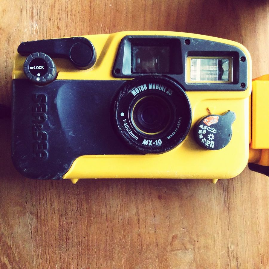 Lieblingsteil Underwater Camera Retro Styled Technology Analog Vintage Camera - Photographic Equipment No People Yellow Color