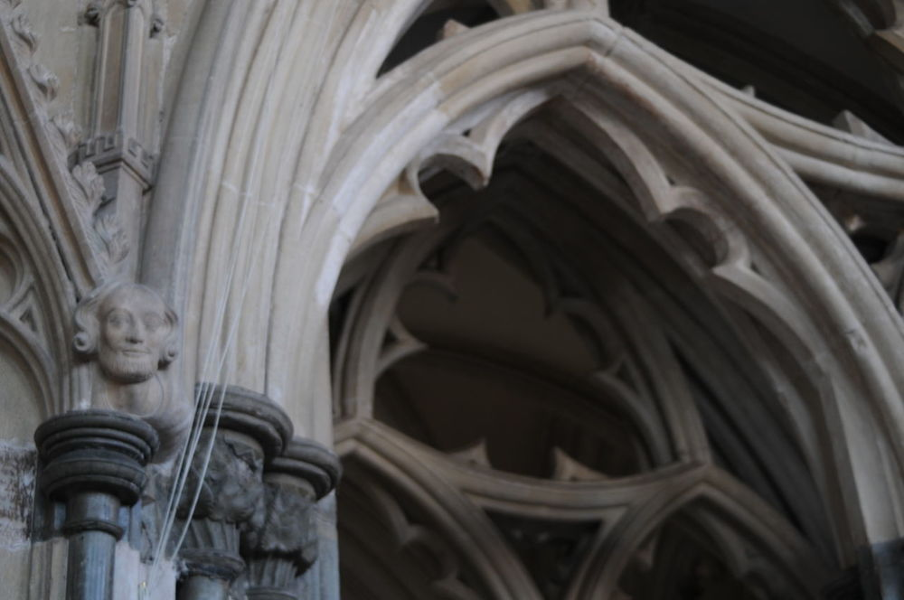 Interior of Wells Cathedral Arch Architecture Architecture_collection Building Interior Cathedral Day Detail Indoors  Low Angle View No People Place Of Worship Sculpture Statue Stone