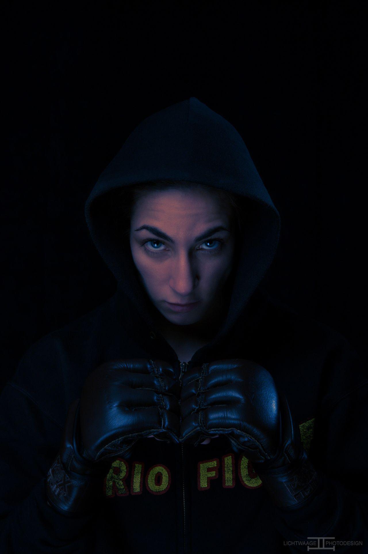 Studio Shot Headshot Black Background Portrait Indoors  People Nikon 50mm Female Fighter Boxing MMA Martial Arts Kickboxing Worldchampion Sport Sports Photography