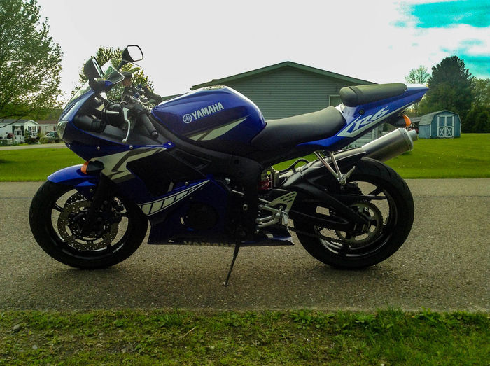 Day Mode Of Transport Motorcycle Parked R6  Sportbike Stationary Yamaha