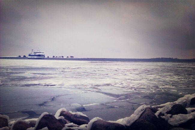 frozen danish ocean Traveling Winter Snow Ocean