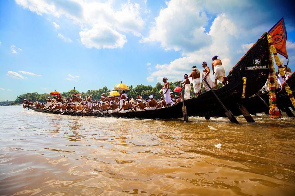 Boat Boat Race  Boat Races Boats Cloud Clouds Clouds And Sky Crowd Festival Festive Mood Festive Season India Kerala Kerala India Kerala The Gods Own Country ;) Race River Sky Water
