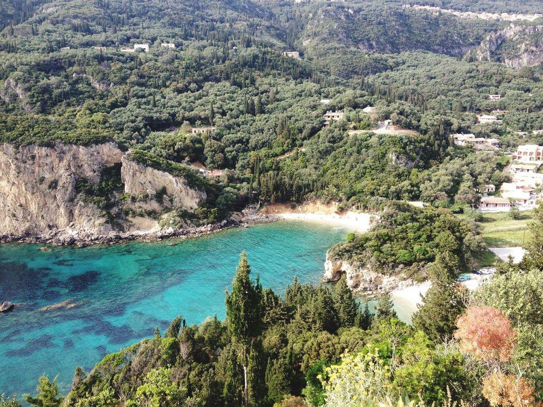Corfu Sea Sea View Nature Paleokastritsa Paleokastritsa Beach. Natural Beauty View No People Beach Bay Traveling