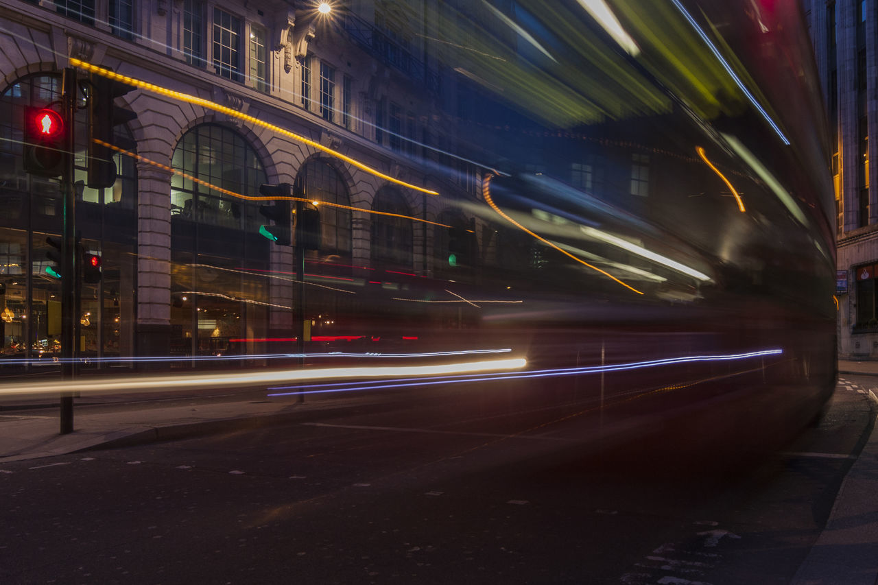 London Bus passing by 41 Gracechurch Street, London, England, United Kingdom Architecture Blurred Motion Building Exterior Bus City City Dusk England High Street Illuminated Light Trail London London Bus Long Exposure Motion Motion Blur Night No People Outdoors Red Road Speed Street Traffic Transportation