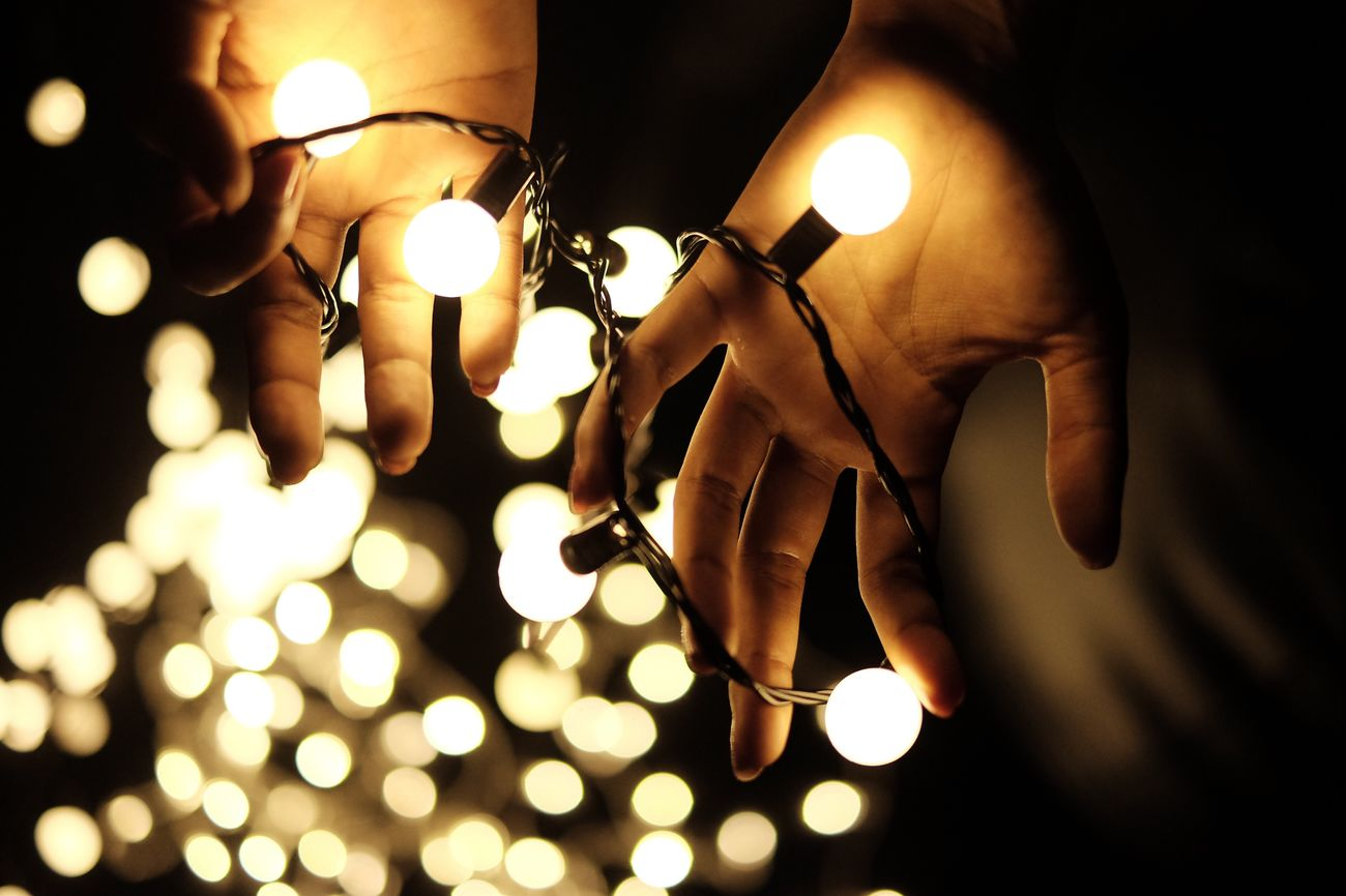 Photographer Lighting Equipment Illuminated Light Bulb Close-up Dark Electricity