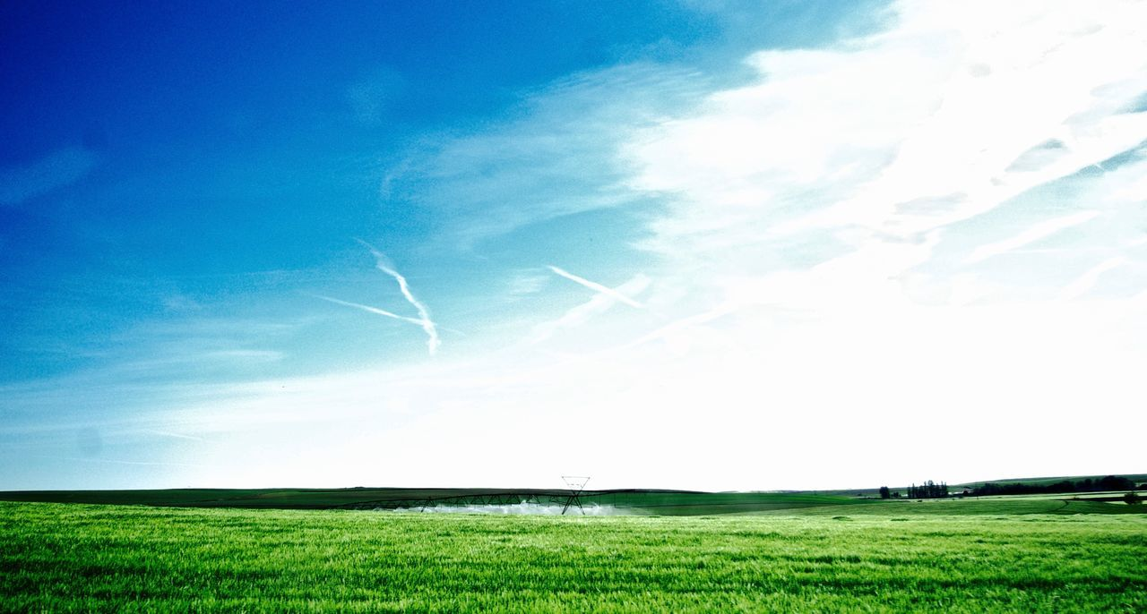 Beauty In Nature Cloud - Sky Day Grass Green Color Green Fields Landscape Nature No People Outdoors Scenics Sky Sunbeam Sunlight