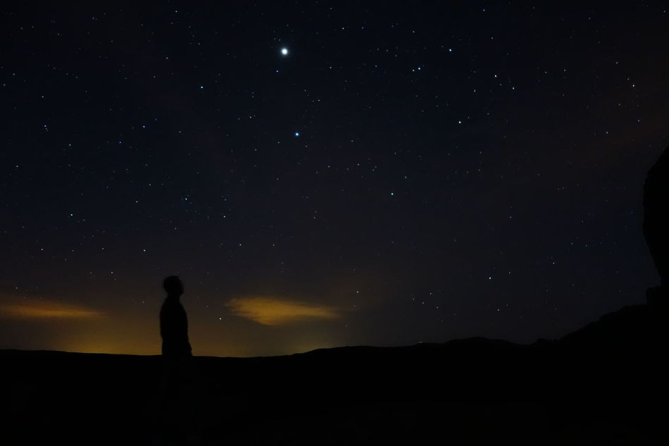 Star - Space Night Silhouette Space And Astronomy Dark Sky Astronomy People Adult One Person Landscape Nature Space Adults Only Constellation Outdoors Beauty In Nature Milky Way Galaxy One Man Only Tenerife Volcano Volcanic Landscape El Teide National Park