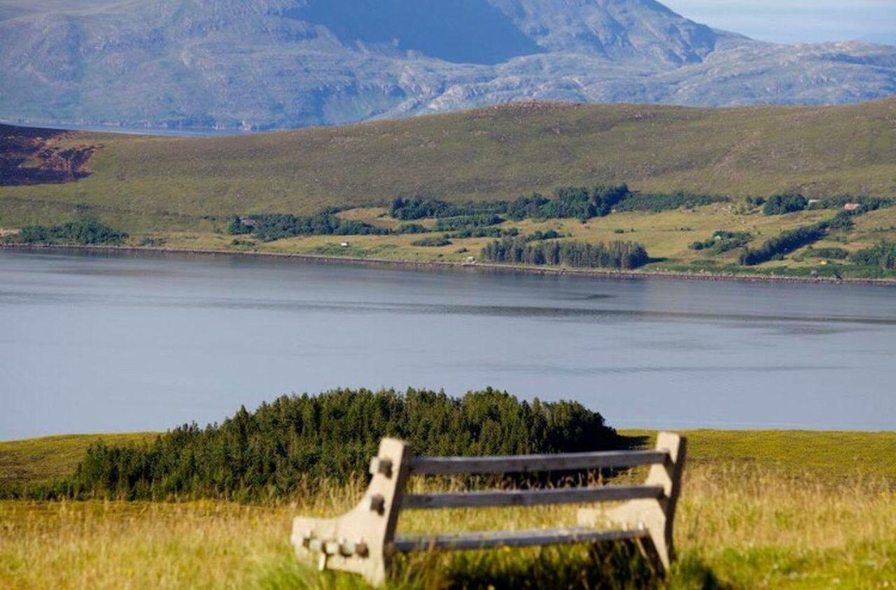 Highlands Scotland Calm Alone Bench