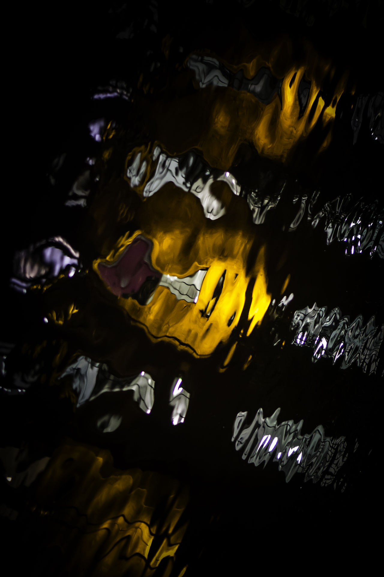 Abstract Abstract Photography Abstractions In Colors Black Background Blur Blurred Blurry Darkness And Light Dream Dreaming Night No People Orange Orange Color Outdoors Reflection Reflections Reflections In The Water Ripples Ripples In The Water Water Water Reflections