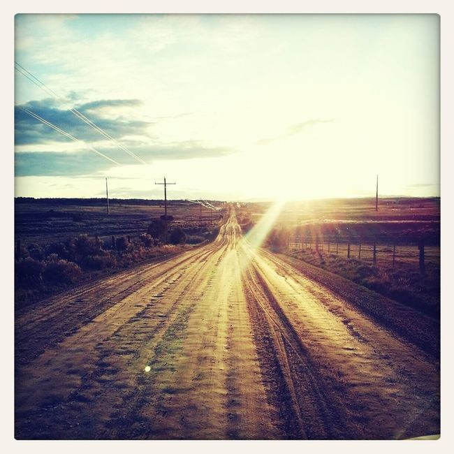 this is one of my favorite road pictures I've taken this year. On The Road Sunsetlover Colorado Rez Life