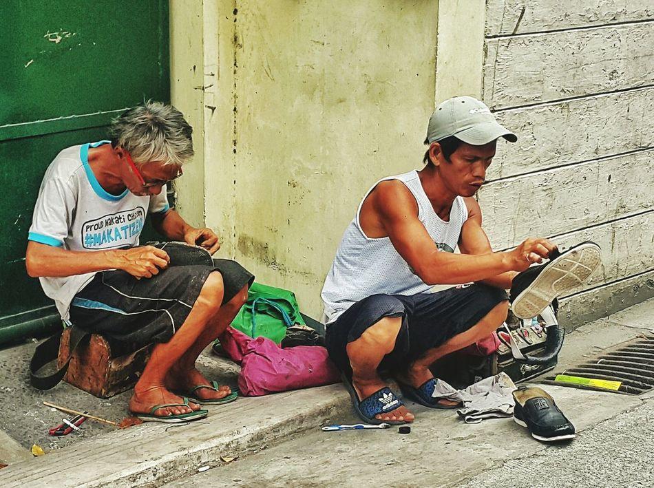 The Street Photographer - 2017 EyeEm Awards Street Photography Working Hard Hardworkingman EyeEm Best Shots Eyeem Philippines Photowalk Life Shoe Shiny Sunday EyeEmBestPics Eyeem Philippines Album