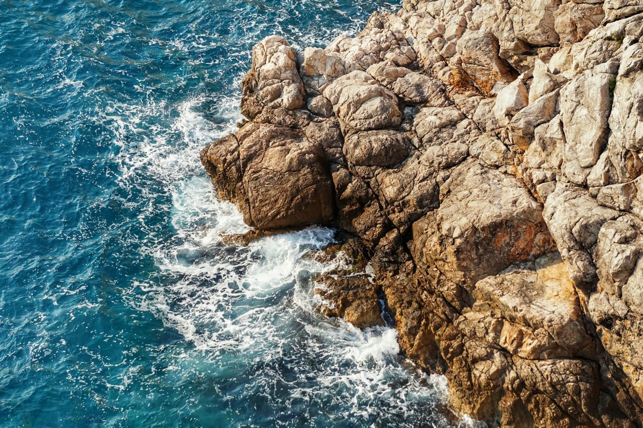 Stay rough! TakeoverContrast Water Sea Rock - Object Rock Formation Nature Natural Pattern Blue Rough Beauty In Nature Rocky Wave Day Splashing Scenics Perspectives On Nature