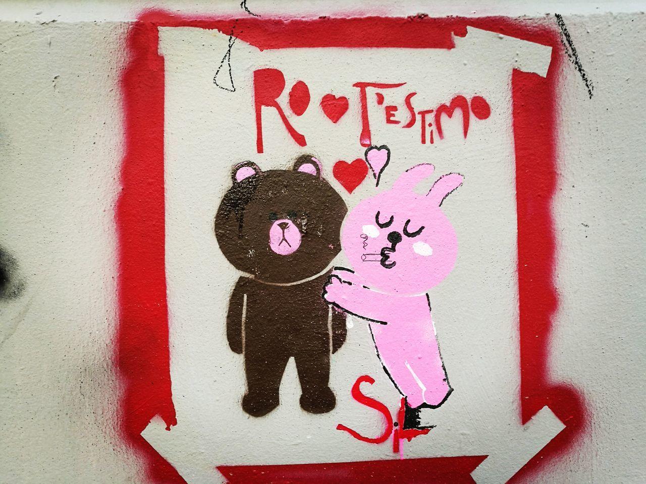 Love♥ Graffiti Urban Photography Bear Rabbit ❤️ Handprint