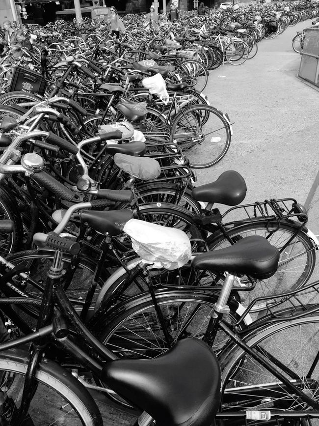 Bikes Velos Bicycles Bicycles Of Amsterdam Blackandwhite Amsterdam Amsterdamcity