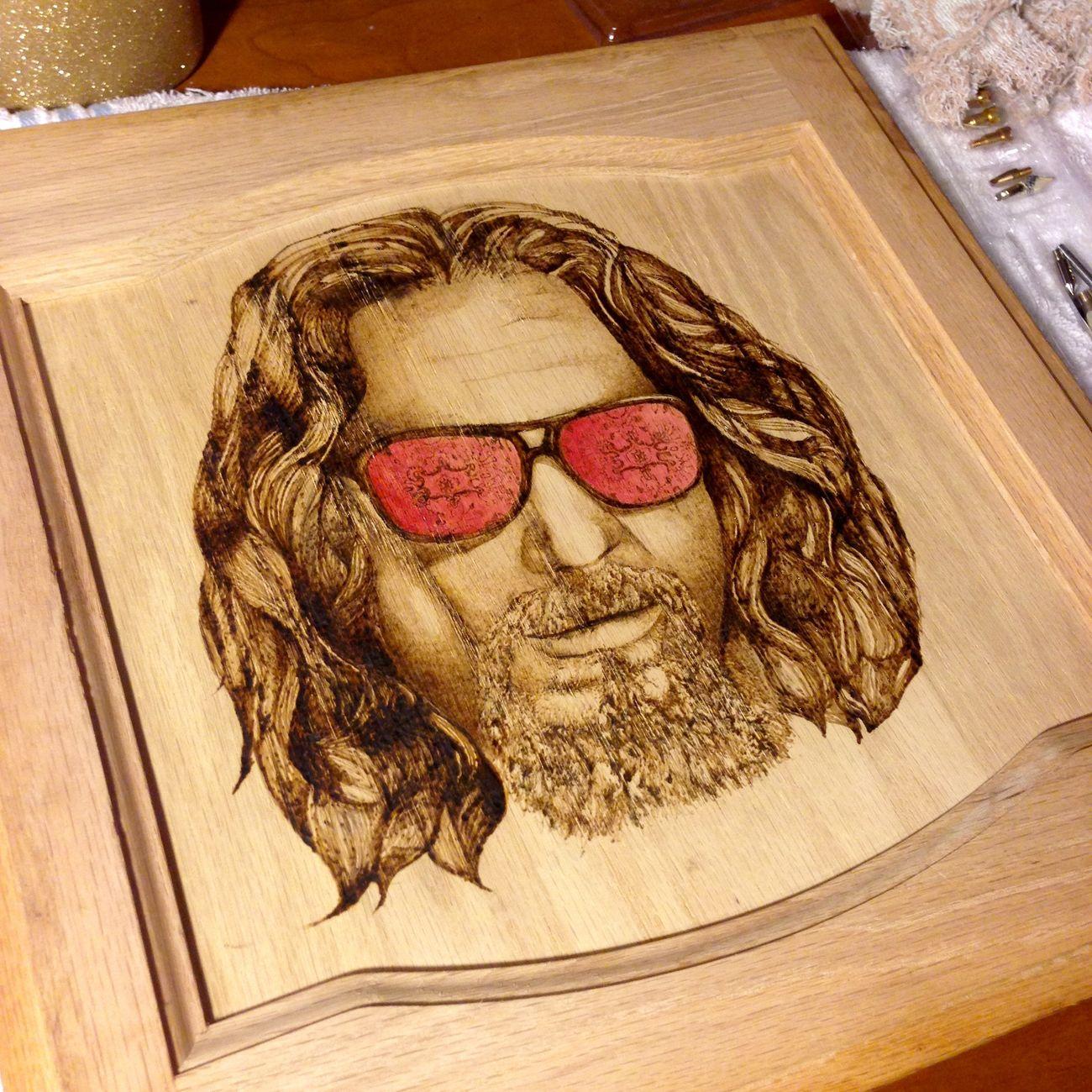 ArtWork Woodburning TheDude Art Artistic Thebiglebowski