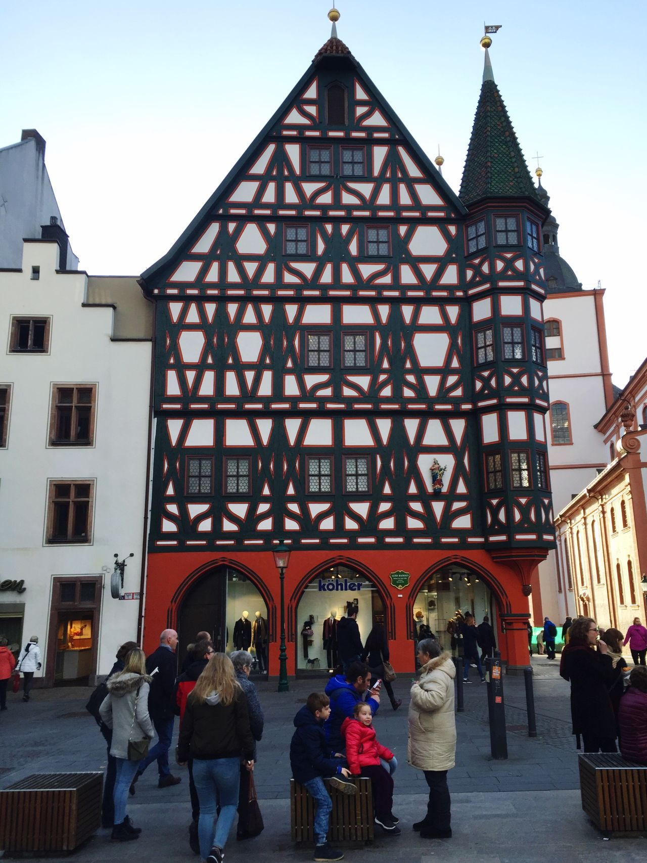 Fulda Barock Fachwerkhaus Half-timbered Half-timbered House Building Exterior Architecture Real People Built Structure Walking Outdoors Travel Destinations Large Group Of People Women Men City Sky Day People Adult